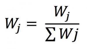 Mencari nilai W, cara menghitung metode weighted product