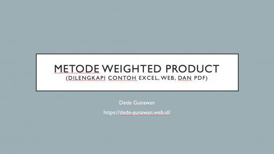 metode weighted product