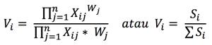 Penentuan nilai V, cara menghitung metode weighted product